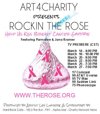 Rockin The Rose TV Charity Promo Card Kiss